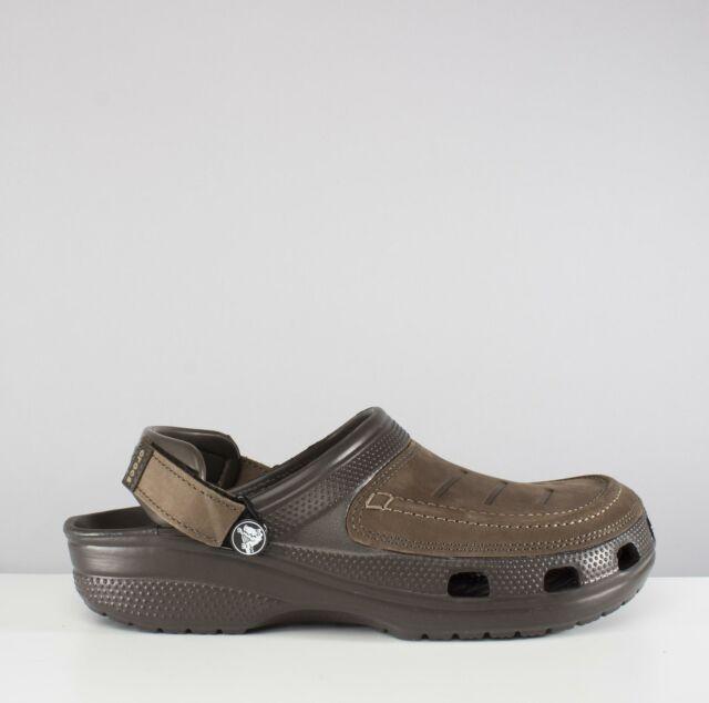 9f673bc1e7dc4 Men's Crocs Yukon Vista Clog M Strap Sandals in Brown UK 8 / EU 42 ...