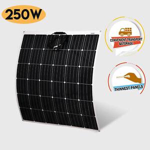 12V-Flexible-Solar-Panel-250W-Monocrystalline-Caravan-Camping-Battery-Charge
