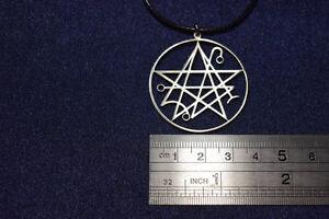 Details about Necronomicon Sigil Seal of Lucifer Amulet KeyChain Necklace  Pendant satan occult