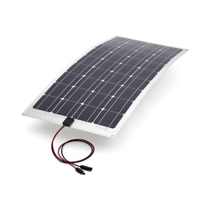 100W Semi Flexible 12V Solar Panel Caravan Boat Motorhome Battery Charging
