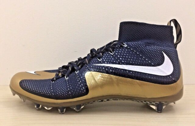 816c94a41e1f NIKE Vapor Untouchable Flyknit TD Football Cleat Blue Gold 707455-426 Size  15
