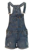 Women's Denim Dungaree Shorts Jeans Ladies Denim Playsuit Size 8 10 12 14 16