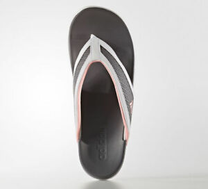 08a9936beb6f4 NEW Womens White Gray Pink Adidas Adilette CF Flip Flops Thongs ...