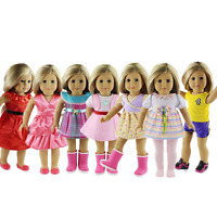18-inch 7 Outfits American Girl Doll Accessories Set