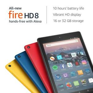 New-Kindle-Fire-HD-8-Tablet-with-Alexa-8-034-16-GB-latest-model-U-K-stock