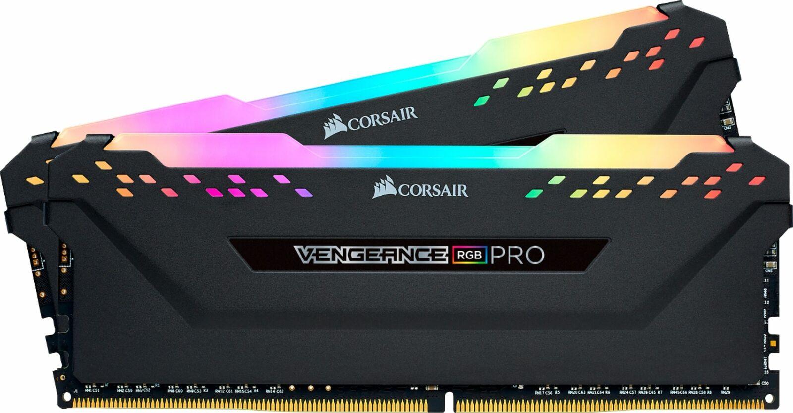 CORSAIR - VENGEANCE RGB PRO 32GB (2x16GB) DDR4 3600 (PC4-28800) C18 Desktop M.... Buy it now for 172.99