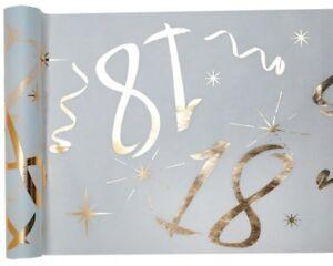 Details Zu 18 Geburtstag Party Tischband Gold Weiß Tisch Deko Passende Servietten Im Shop