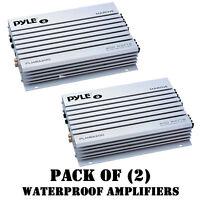 Pack Of (2) Pyle Plmra200 2-ch. 400 Watt Bridgeable Waterproof Marine Amplifier on sale