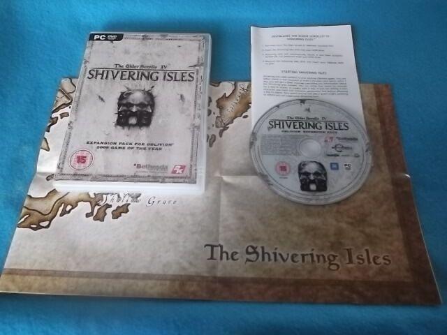 ELDER SCROLLS IV 4 OBLIVION SHIVERING ISLES EXPANSION PACK PC-DVD V.G.C.