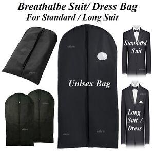 BLACK-SUIT-BAG-COVERS-BREATHABLE-CLOTHES-DRESS-SHIRT-COVER-LONG-SUIT-TRAVEL-BAGS