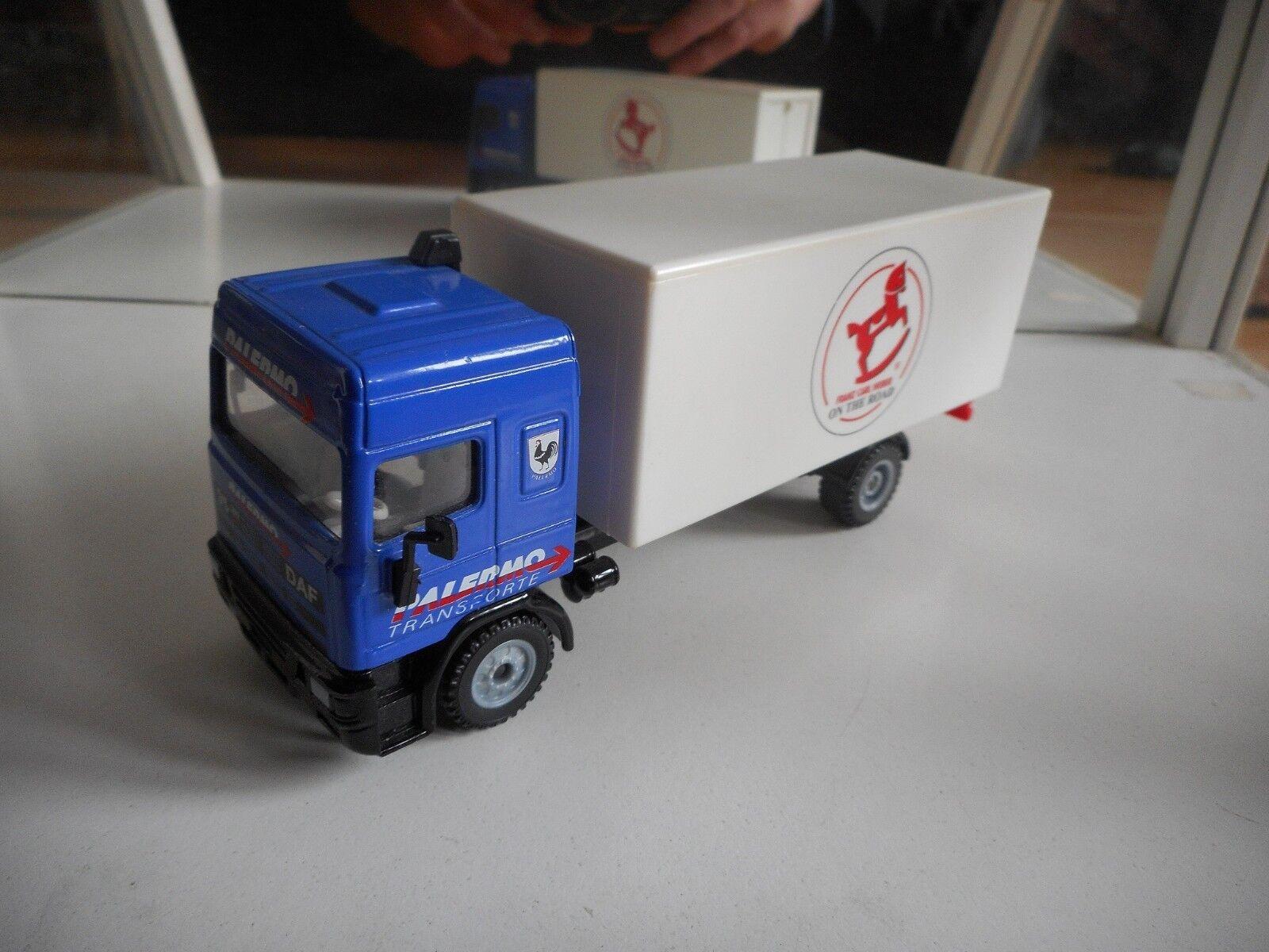 Siku Promo Daf 95 360 ATI  Palermo Transporte, Franz Carl Weber  in Blau Weiß