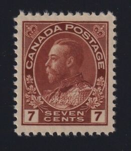 Canada-Sc-114-1911-25-7c-red-brown-Admiral-Mint-VF-NH
