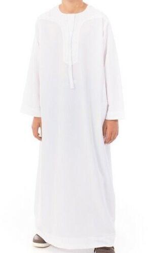 Robe Daffah Thobe Dishdasha Islamic Arabian Kaftan BOYS OMANI Style clothing