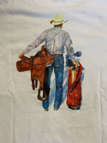 Vintage 80's Horse Theif Country Club Shirt Size M