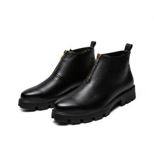 British Style Mens Pointed Toe Flat Shoes Business Leather Shoes Ankle Boots New