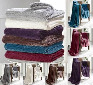 Fleece Throws Blankets Small Medium Large Double King