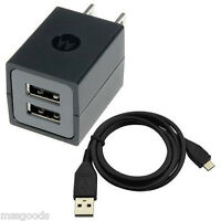 Motorola Dual Port Universal Wall Charger With Micro Usb Data Cable