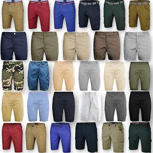 Mens-Chino-Shorts-Bottom-Knee-Length-Cargo-Combat-Pant-Cotton-Casual-Summer-New