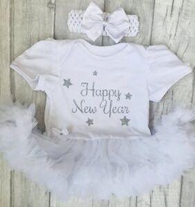 Acheter Pas Cher Nouvelle Année Tutu Ange, Argent Glitter Happy New Year Star Design Nouveau-né Cadeau-afficher Le Titre D'origine Longue DuréE De Vie