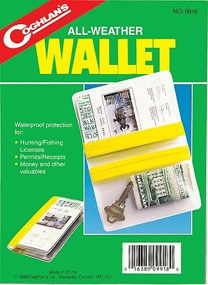 2PK ALL WEATHER WALLET=WATER PROOF PROTECTION FOR YOUR LICENSE PERMITS MONEY 3
