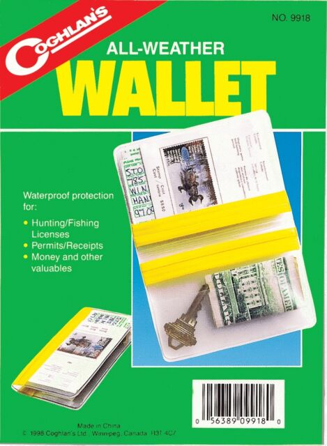 2PK ALL WEATHER WALLET=WATER PROOF PROTECTION FOR YOUR LICENSE PERMITS MONEY #2