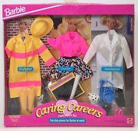 Barbie Caring Careers Fashion Gift Set Firefighter Teacher Veterinarian