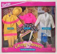 Barbie Caring Careers Fashion Gift Set Firefighter Teacher Veterinarian