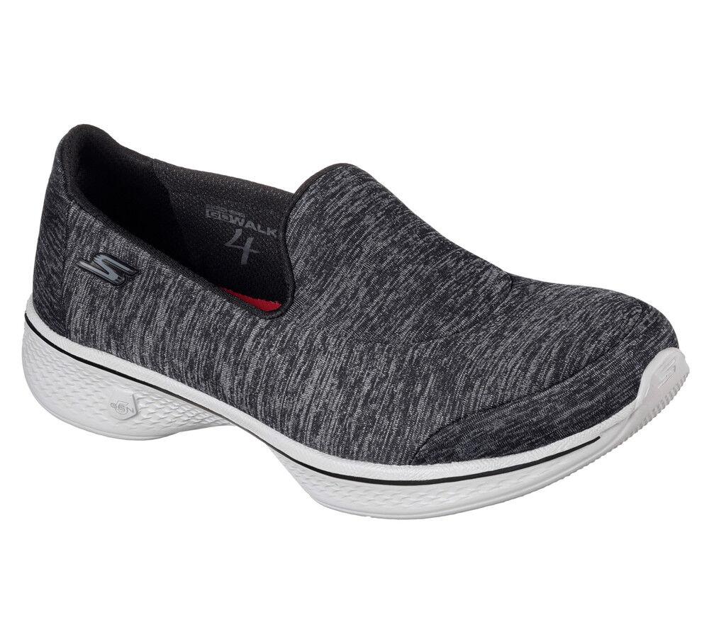 Nuevos Zapatos para Caminar Zapatillas De De De Mujer Skechers Go Walk 4 Ligero-Negro Astonish  gran descuento