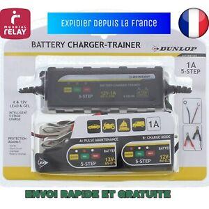 CHARGEUR DE BATTERIE VOITURE AUTO/MOTO DUNLOP  6 et 12 VOLTS MAINTIEN CHARGE