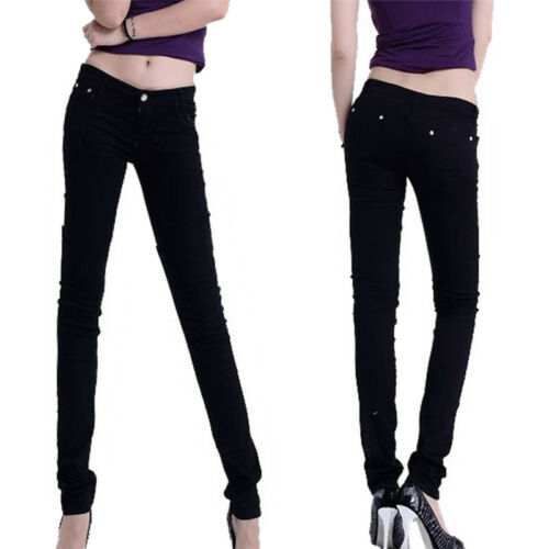 Women/'s Pencil Stretch Casual Look Denim Skinny Jeans Pants High Waist Trousers
