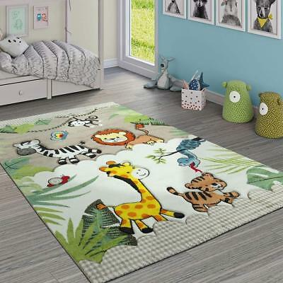 Kids Animal Rug Jungle Childrens Bedroom Carpet Thick Mat Play Room Small  Large | eBay
