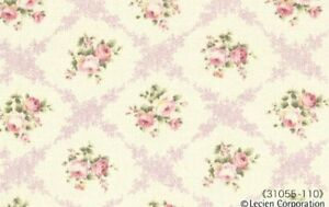 Cottage-Shabby-Chic-Lecien-Rococo-Sweet-Rose-Lattice-Fabric-31055L-110-BTY