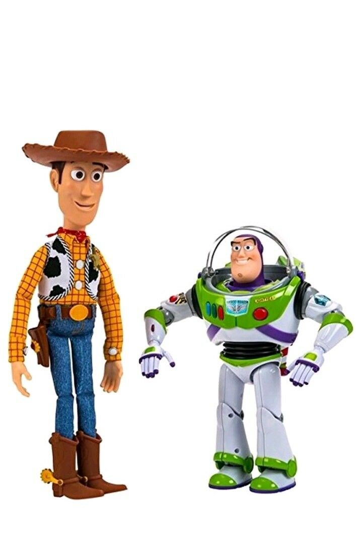 Toy Story buzz & woody talking action figures used in box