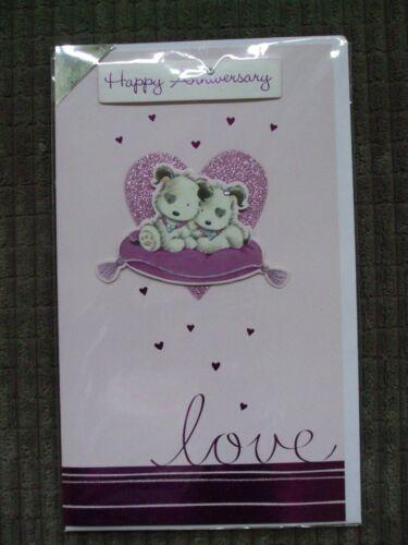 Joyeux anniversaire carte-Puppy Love main fini de faire une offre!!!;;;