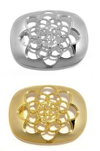 Gürtelschnalle Wechselschnalle Buckles gold silber Ornament 4 cm Made in Italy