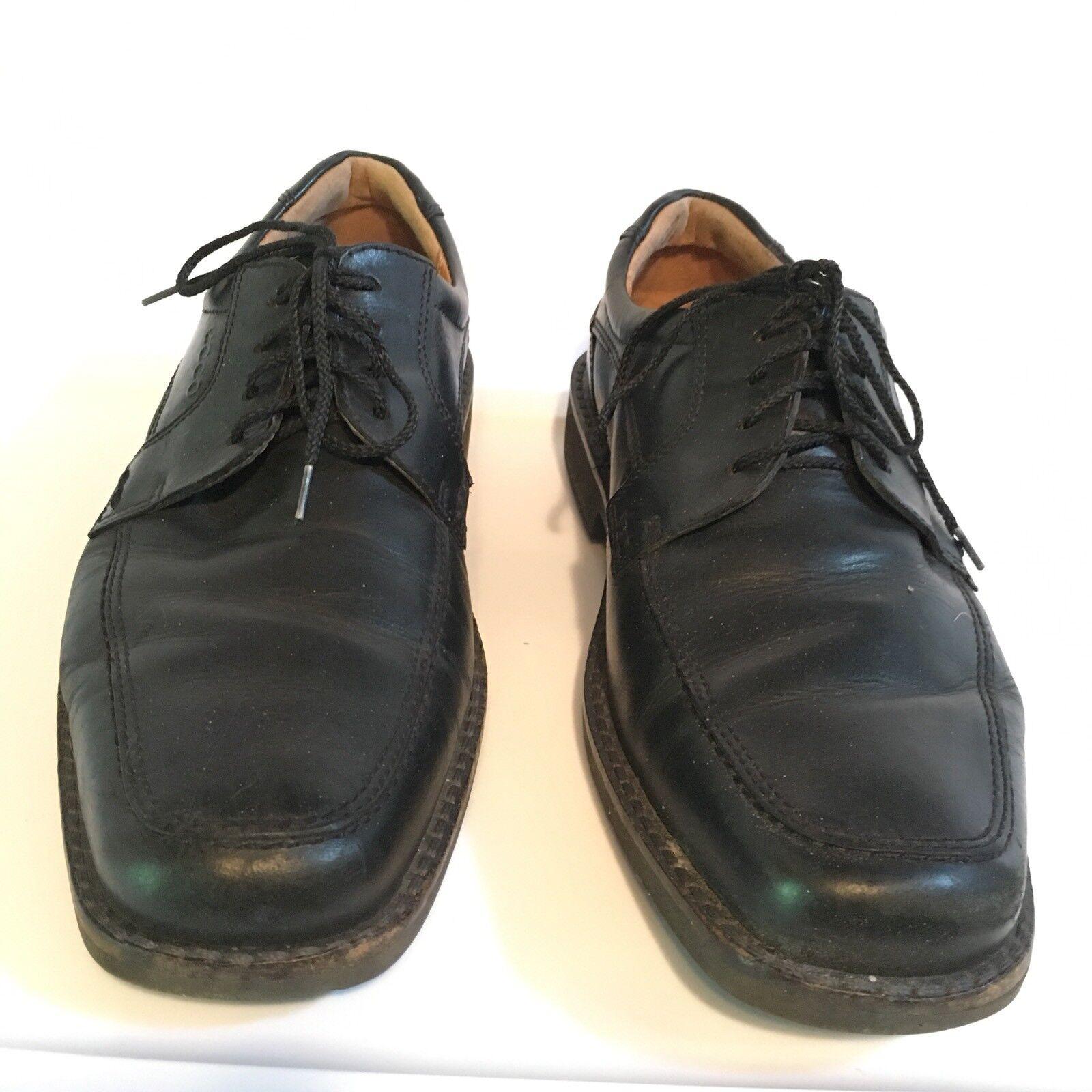 ECCO Men's Leather Lace Up Oxford Dress scarpe Dimensione 11 nero