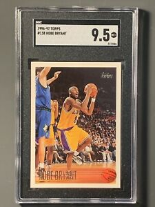 1996-Topps-138-Kobe-Bryant-Rookie-SGC-9-5-Los-Angeles-Lakers-HOF-Nice