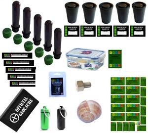 NEU-38-Teile-Geocaching-Behaelter-Paket-Set-Nano-Versteck-Petling-Logbuch-Micro