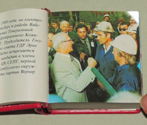Bezirk Cottbus 1984 DDR Minibuch RUSSISCHE Ausgabe