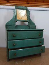 Antique Bairntoys of Hebburn Miniature dressing table 1920's wood doll furniture