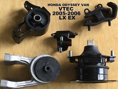 K750 Fit 2005-2006 Honda Odyssey 3.5L VTEC EX LX Motor /& Trans Mount Set 5PCS
