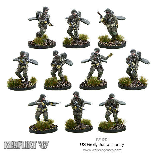 US Firefly Jump Infantry Bolt Action Konflikt '47 Warlord Games