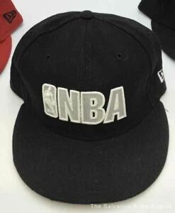 Lot of 2 NBA Spurs New Era Fitted Caps - Size Assorted