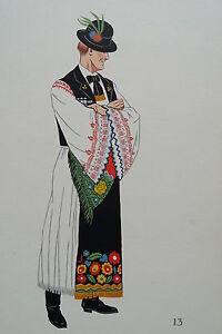 -2-5-13 Gravure Costume De Jeune Paysan De Mezökövesd Hongrie Produits De Qualité Selon La Qualité