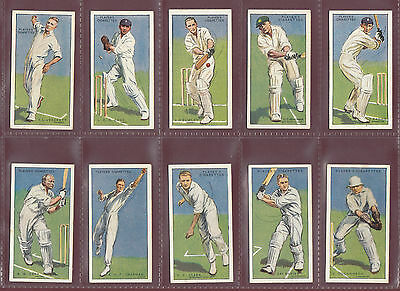 CRICKET  -  JOHN PLAYER & SONS - SCARCE SET OF 50 CRICKETERS 1930 CARDS  -  1930
