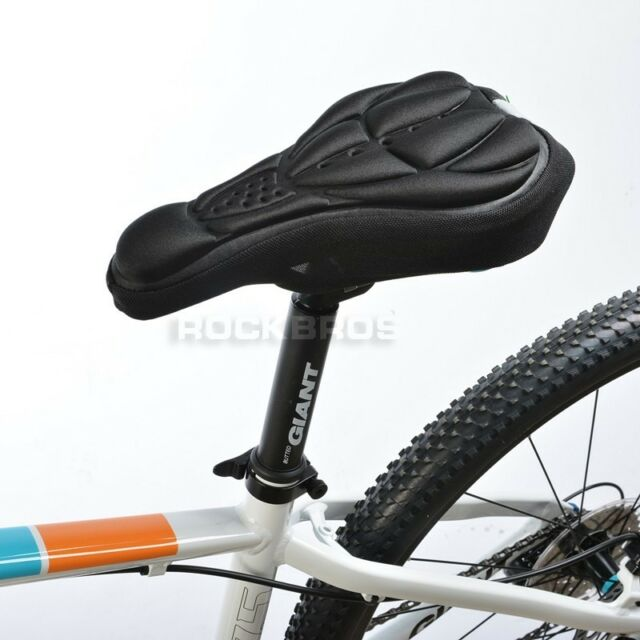 RockBros Cycling Bicycle Bike Gel Pad Seat Saddle Cover Soft Cushion Black