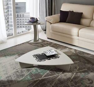 Tavolino salotto basso triangolare pr emma design moderno for Mobili bassi da salotto