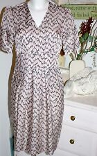 Noa Noa Kleid Dress Printed Cupro Print Purple  Kurzarm Size: S/36  Neu