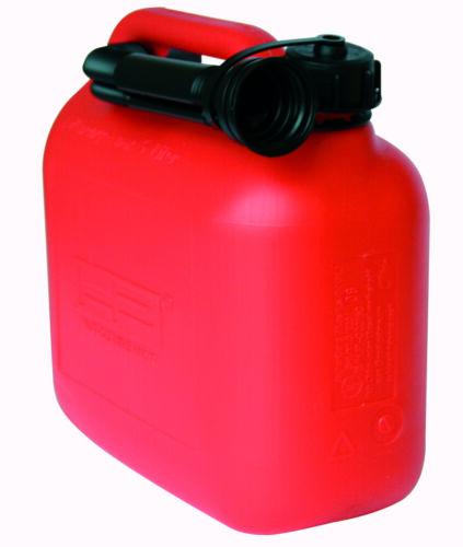 HP carburant Jerrycan plastique 5 L Rouge Essence Bidon Jerrycan Réserve 10007!