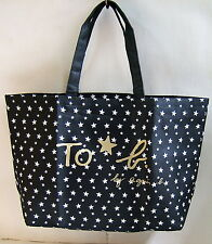 New To b by Agnes B Black LARGE Star Tote Shoulder Shopping Bag Original Packing